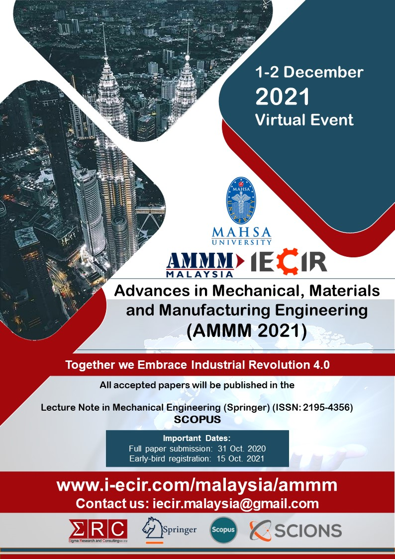 Advances in Mechanical, Materials<br /> and Manufacturing Engineering<br />