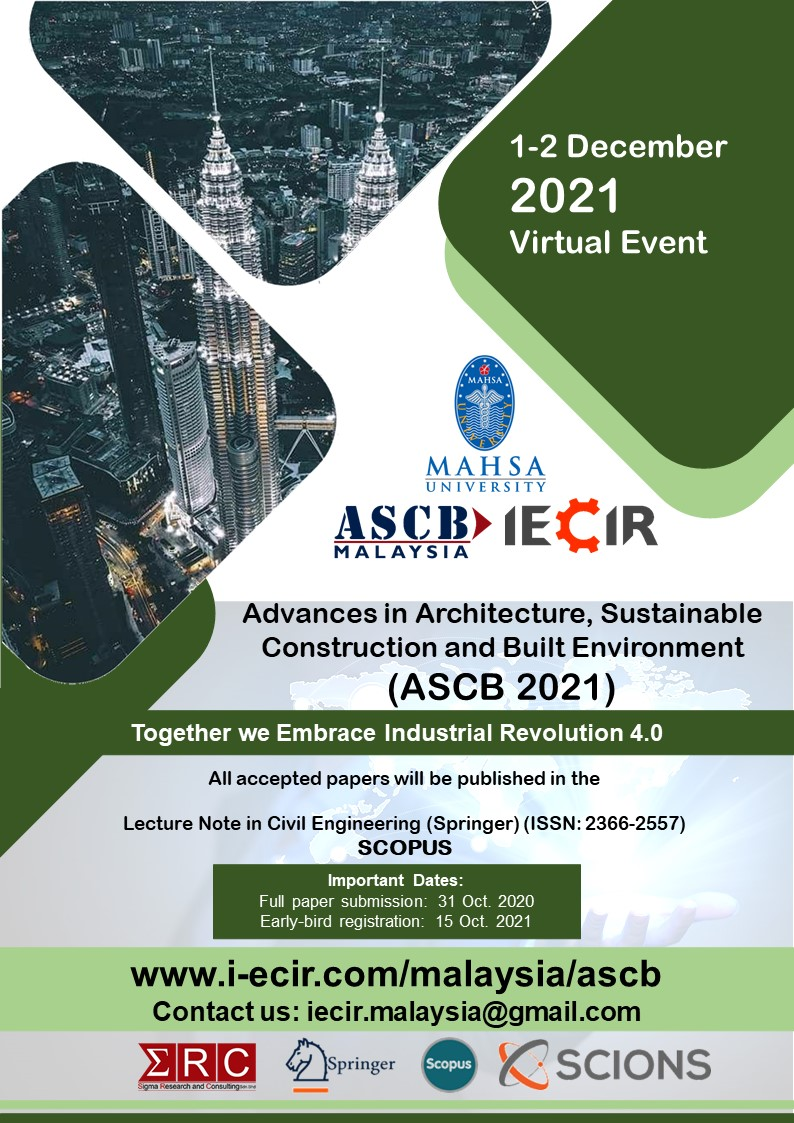 Advances in Architecture, Sustainable<br /> Construction and Built Environment<br />